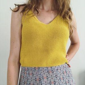 Loft Yellow Sweater Tank Top